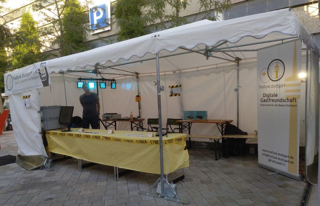 Infostand auf dem Göppinger Stadtfest 2018
